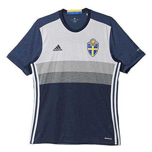 adidas Herren UEFA EURO 2016 Schweden Auswärtstrikot Replica, navy blau/grau, L, AA0456