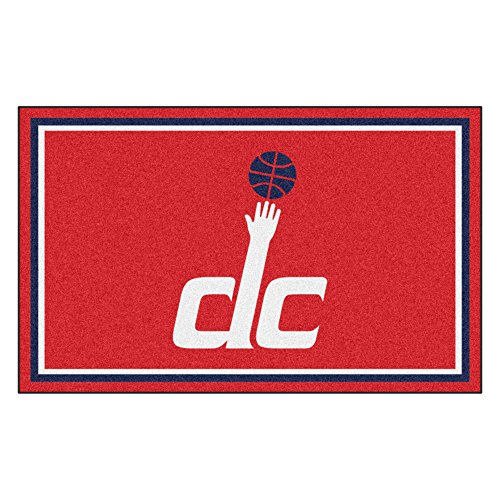 FANMATS 20447 NBA - Washington Wizards 4'X6' Rug, Team Color, 44''x71'' by Fanmats