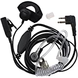 AOER Covert Acoustic Tube Earpiece Headset Mic with Finger PTT for 2pin Motorola Radio Pmr446 Pr400 Mag One Bpr40 A8 Ep450 Au1200 Etc