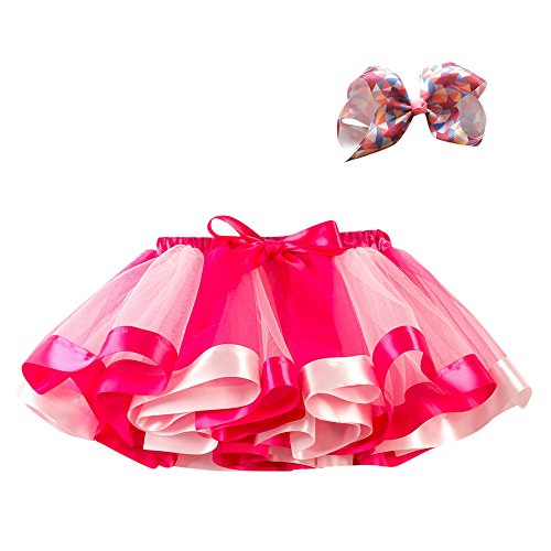 WOCACHI Toddler Baby Dresses, Girls Kids Tutu Party Dance Ballet Toddler Baby Costume Skirt+Bow Hairpin Set 2019 Spring Summer Under 5 Deals Allowance Campaign]()