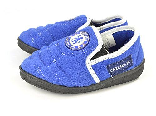 Chelsea F.C. - Zapatillas de estar por casa de Material Sintético para niño azul azul