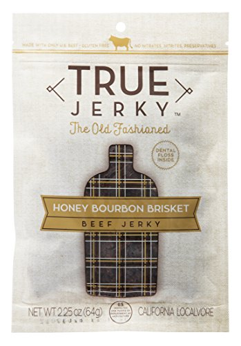 True Jerky, The Old Fashioned - Honey Bourbon Brisket Beef Jerky, 2.25 oz