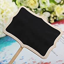 Chalkboard 12 Mini Retangle Blackboard with Stand, Wedding Party Table Numbers Place Card Favor Tag Plant Marker