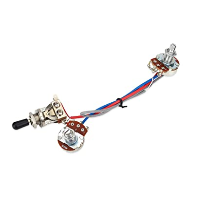 Kit Cableado circuito de guitarra interruptor 1 volume 1 Ton de interruptor, 3 Vías,