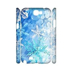3D Samsung Galaxy Note 2 Case, Kawaii Snowflake Patterns Case for Samsung Galaxy Note 2 {White}