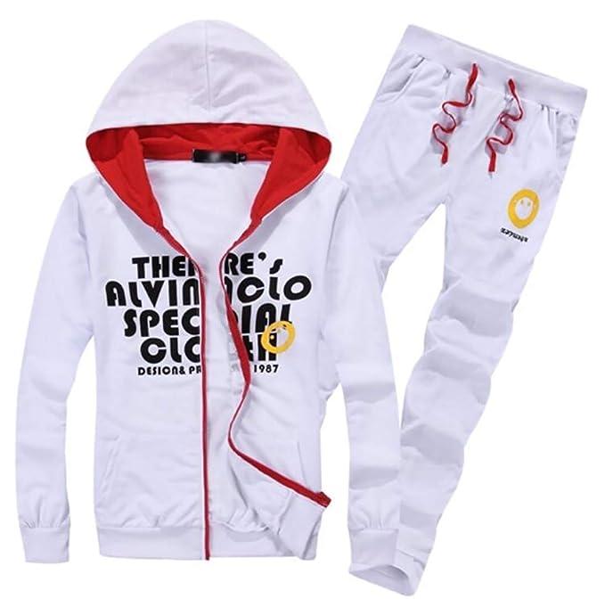 dahuo - Chándal - para Hombre Blanco Blanco US XL: Amazon.es: Ropa ...