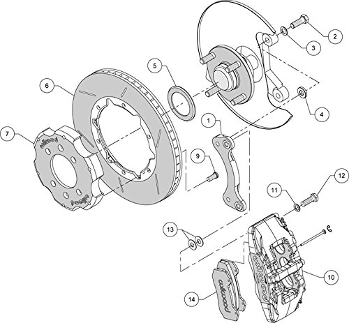 Amazon Com New Wilwood 1990 2005 Mazda Miata Mx 5 Front Disc Brake