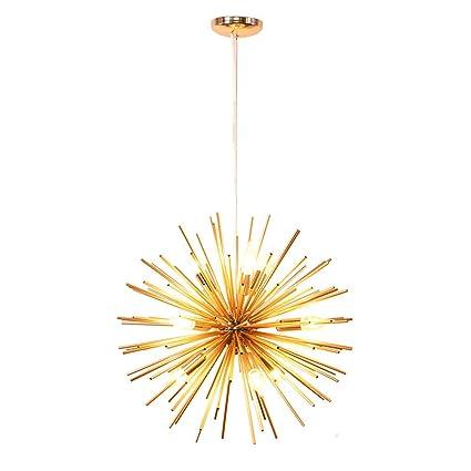MTSBW Golden Sputnik candelabro lámpara de luz de Techo ...