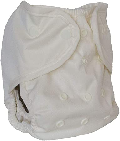Buttons Cloth Diaper Cover - One Size (Cream)