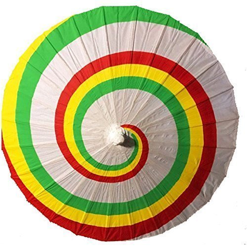 Firefly Kaylee's Paper Parasol Hand Painted Tri-Colored Costume Cosplay Replica