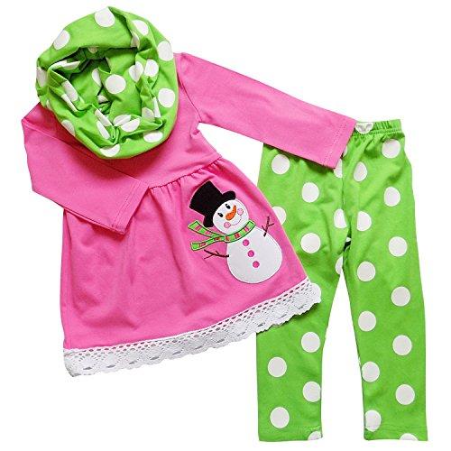 Girls Pink Snowman - 3