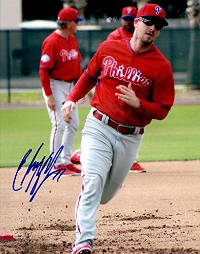 Photo Fan Phillies (Autographed Chris Mcguiness 8x10 Philadelphia Phillies Photo)