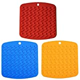 Premium Silicone Pot Holder, Elerko Multipurpose Kitchen Tool Trivets,Hot Mitts,Spoon Rest And Garlic Peeler Non Slip,Heat Resistant Hot Pads