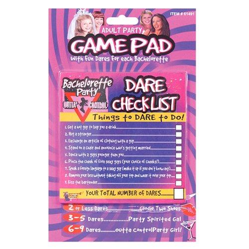 Bachelorette Party Favors Outta Control Dare Checklist Game]()