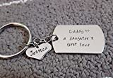 A Daughter's First Love Key Chain, Personalized Daddy Key Chain, Father's Day gift