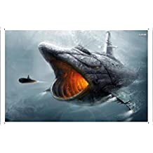 Abstract Sign - Shark Submarine 19835 Metal Tin Poster