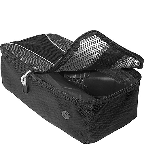 eBags Shoe Bag - Travel Packing Cube for Shoes - (Black)