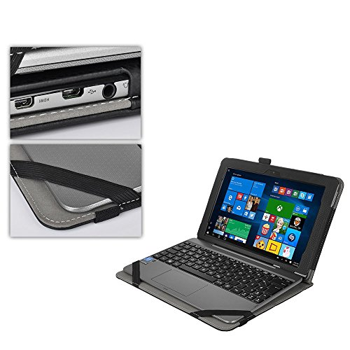 Business case Cover for ASUS Transformer Book T101HA Tablet Laptop with Keyboard Cover (Black)