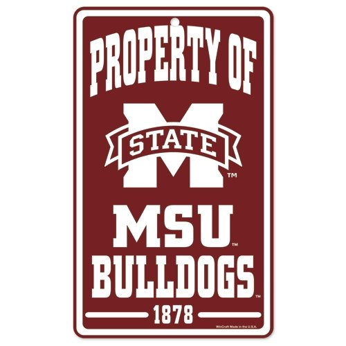 WinCraft NCAA Mississippi State University Champ/Prop of Sign, 7.25 x 12, Black ()