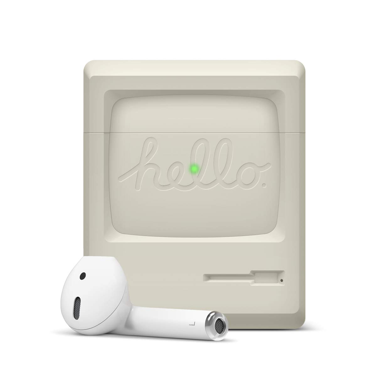 ویکالا · خرید  اصل اورجینال · خرید از آمازون · elago AW3 Designed for Airpods Case - Old-School Retro Design, Front LED Visible, No Hinge, Support Wireless Charging, Extra Protection - Compatible with AirPods 2&1 [US Patent Registered] wekala · ویکالا