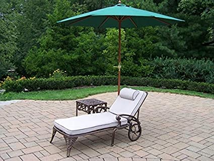 Amazon.com: Oakland Living Elite 2 chaise Lounges con 18 ...