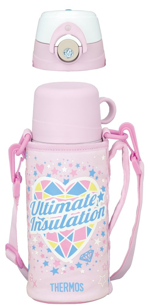 THERMOS vacuum insulation 2WAY 0.6L bottle pink white FFG-601WF PKW by Thermos