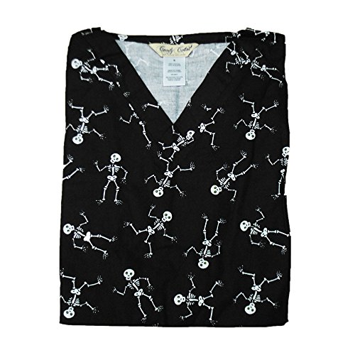 Holiday Scrub Tops (Skeleton, XL)