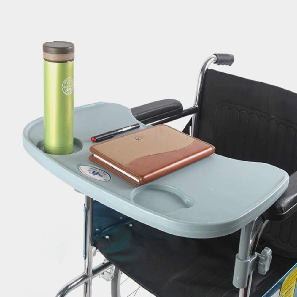 GLJY Accesorios de Mesa para bandejas de sillas de Ruedas con portavasos, bandejas para Uso médico en el Escritorio para sillas manuales o eléctricas y para niños