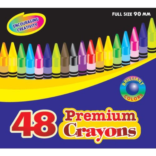 Bazic 48 Count Premium Quality Color Crayon 48 pcs sku# 359789MA by Bazic