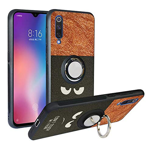 (Compatible with Xiaomi Mi 9 Case, Alapmk [Pattern Design] [with 360 ° Kickstand] Protection Cover Fit with [Magnetic Car Mount] for Xiaomi Mi 9, Do not Touch)