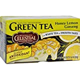 Celestial Seasonings Green Tea Honey Lemon Ginseng with White Tea -- 20 Tea Bags