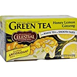 Celestial Seasonings Green Tea Honey Lemon Ginseng with White Tea - 20 Tea