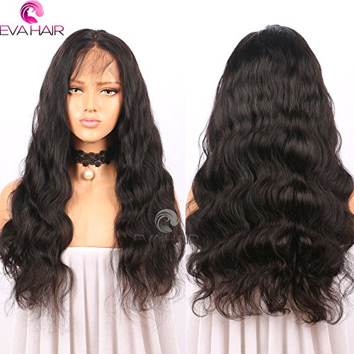 13x6 Lace Front Human Hair Wigs for Black Women Pre plucked Brazilian Virgin Hair 150 density Lace Front Wig Glueless Body Wave Front Lace Wigs with Baby Hair (14 Inch,150 density,13x6 Lace Front Wig) by EVA HAIR (Image #2)