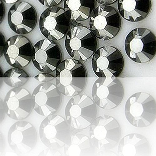 """100% Custom Made (Assorted) 1200 Bulk Pieces of Mini Size """"Glue-On"""" Flatback Embellishments for Decorating, Made of Acrylic Resin w/ Shiny Iridescent Crafting Rhinestone Crystal Silver Style {Grey} by mySimple Products"""