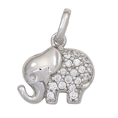 commander en ligne vente officielle les ventes chaudes Pendentif éléphant elefantchen argent 925 et zirconium pour ...