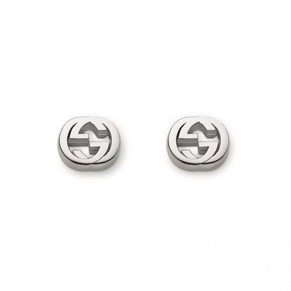 Gucci Women's Trademark Earrings Silver by Gucci