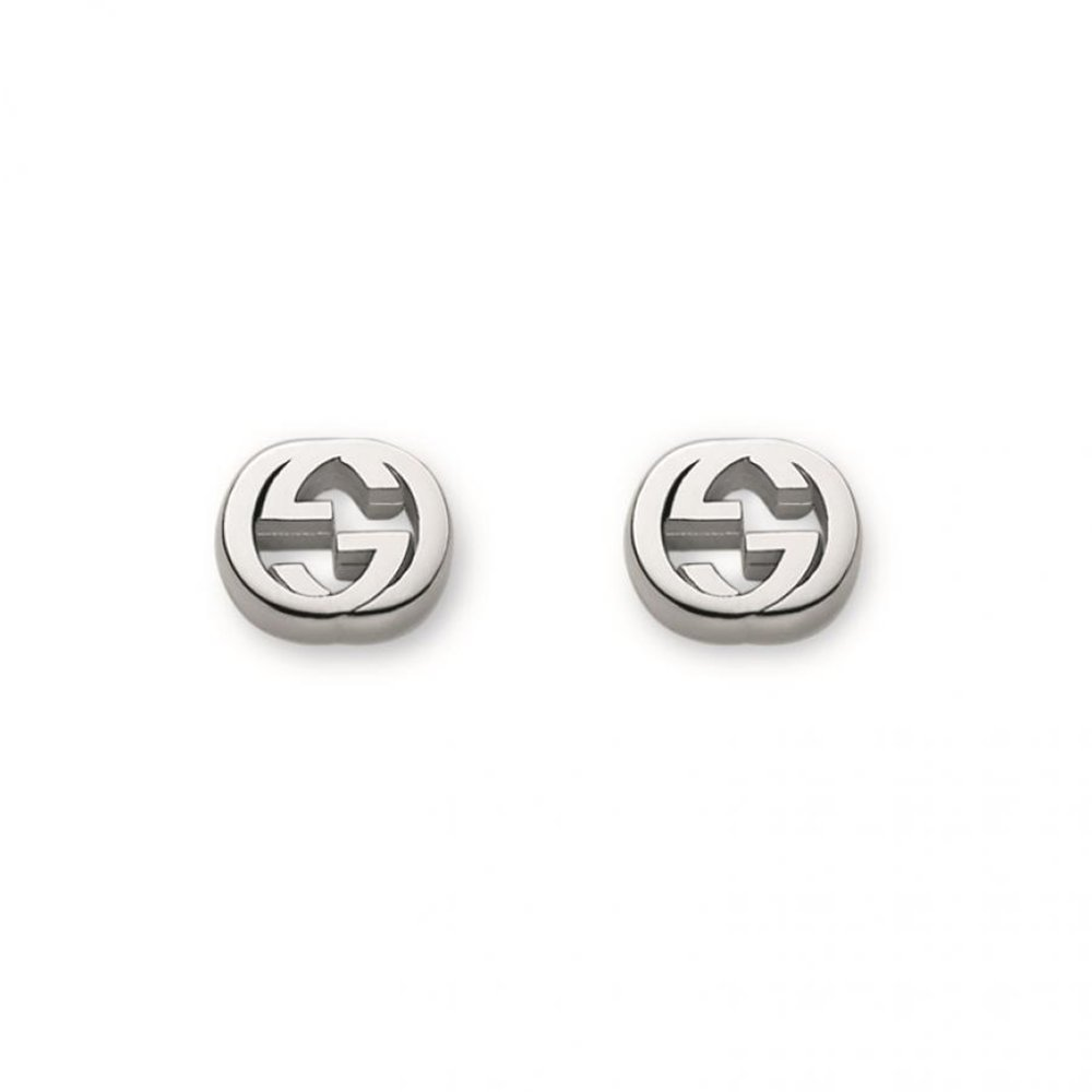 64131ce300c Amazon.com  Gucci Women s Trademark Earrings Silver  Jewelry