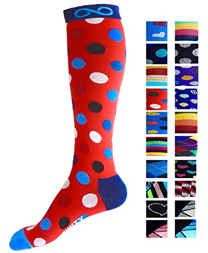 Compression Socks (1 pair) for Men & Women by INFINITY - BEST for Running,...