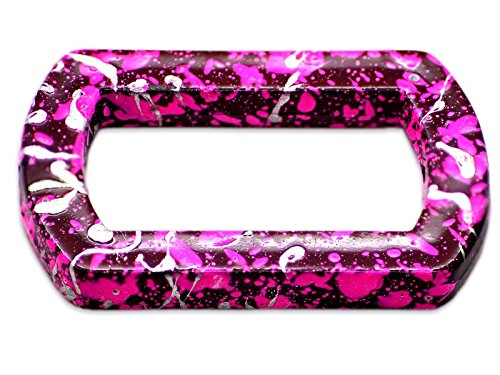 5 perles Rectangle Drawbench Magenta 27mm