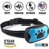 Dog Bark Collar 2018 - Stop Barking Now! Fast Results, Safe, Humane Anti Barking Device Training Control & Deterrent | Puppy, Adult, Small, Medium, Large Dog. No Shock, Sound, Vibration