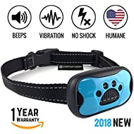 Dog Bark Collar 2018 - Stop Barking Now! Fast Results, Safe, Humane Anti Barking Device Training Control & Deterrent | Puppy, Adult, Small, Medium, Large Dog. No Shock, Sound, Vibration