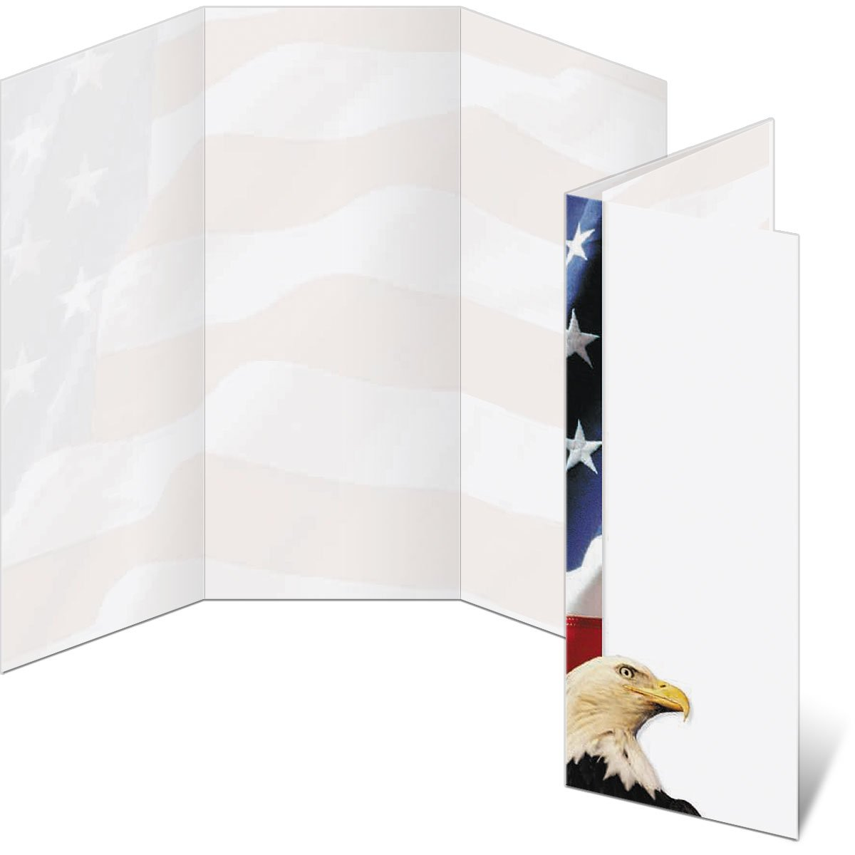 American Symbols 3-Panel Brochure, 8.5 x 11 Inches, 300 Count