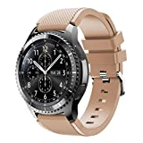 (US) Unisex Fashion Sports Silicone Bracelet Strap, Ninasill Exclusive Band For Samsung Gear S3 Frontier Watch Strap (Khaki)