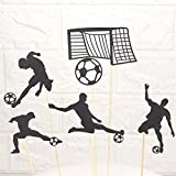 Astra Gourmet 2 Sets Sports Fanatic Soccer Theme Cake Cupcake Toppers Football Cake Topper World Cup Party Supplies(12 pcs)