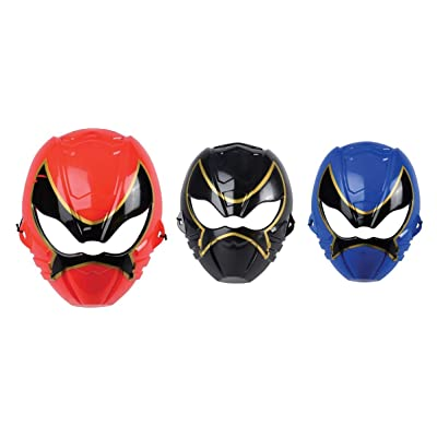 "8"" x 6"" Plastic Ninja Masks (Pack of 3 Colors: Red, Blue & Black): Clothing"