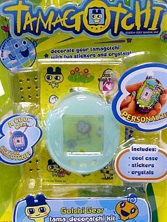 Bandai Tamagotchi Connection V 4.5 Tamagotchi Decoration Kit - Mametchi Case Pack - Blue Skin, Stickers and Bling