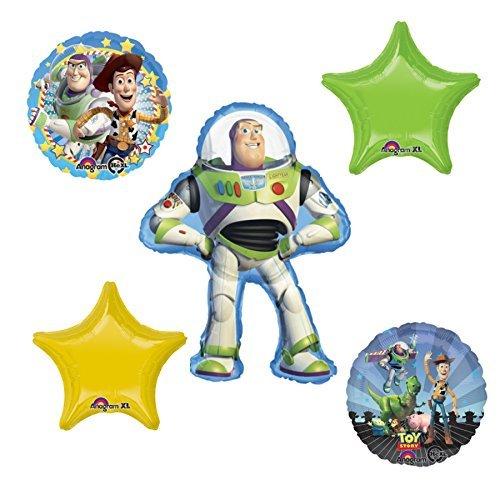 Disney Toy Story Buzz Lightyear Woody Mylar Balloon Set]()