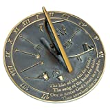 Rome RM2307 Brass Sundial 'Kiss of the Sun'