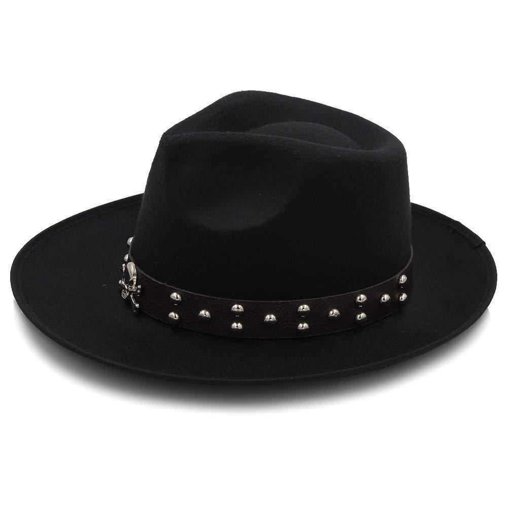 d0c667b3f MXL Women Wool Fedoras With Metal Ring Wide Brim Panama Hat Winter ...