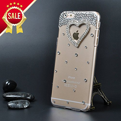iPhone 6s Case, IC ICLOVER[Crystal Series] [Perfect-Fit] iPhone 6s/6 4.7 inch Case, 3D Crystal Rhinestone Diamond Bling Bumper Skin Case Glitter Hard Cover for iPhone 6s Protect Case - Heart